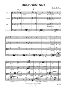 String Quartet No.0: partitura by Colin Bayliss