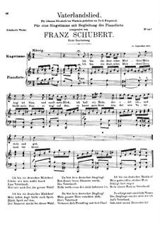 Vaterlandslied (Song of the Fatherland), D.287: pimeira versão by Franz Schubert