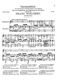 Vaterlandslied (Song of the Fatherland), D.287: segunda versão by Franz Schubert