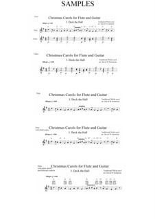Deck the Hall: para flauta e guitarra by folklore