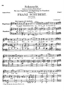 Sehnsucht (Longing), D.310: pimeira versão by Franz Schubert
