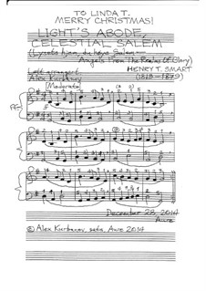 Angels, from the Realms of Glory: For piano (or organ, or keyboard) by Henry Smart