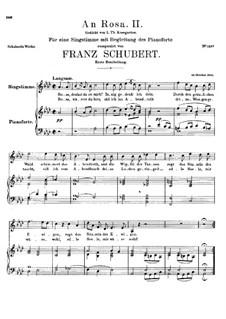 An Rosa (To Rosa), D.316: Primeira Edição by Franz Schubert