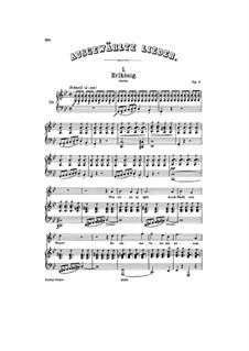 Erlkönig (Forest King), D.328 Op.1: Partitura piano-vocal by Franz Schubert
