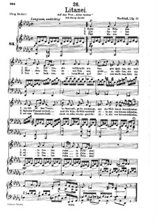 Litany, D.343: Partitura piano-vocal by Franz Schubert
