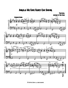 Angels We Have Heard Can Swing: For early intermediate piano by folklore