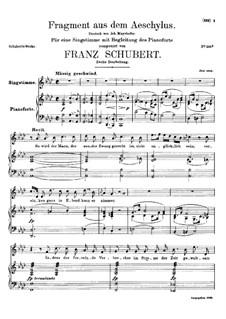 Fragment from Aeschylus, D.450: segunda versão by Franz Schubert