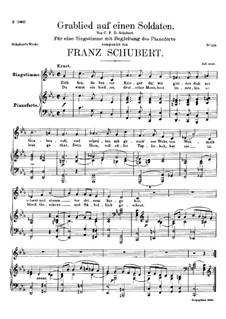 Grablied auf einen Soldaten (Dirge for a Soldier), D.454: C minor by Franz Schubert
