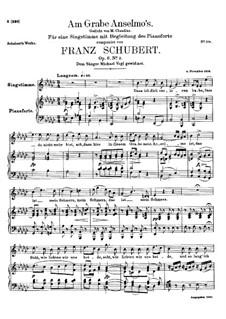 Am Grabe Anselmos (At Anselmo's Grave), D.504 Op.6 No.3: para voz alta e piano by Franz Schubert