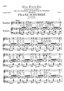 Die Forelle (The Trout), D.550 Op.32: pimeira versão by Franz Schubert
