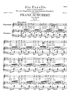 Die Forelle (The Trout), D.550 Op.32: Fourth version by Franz Schubert
