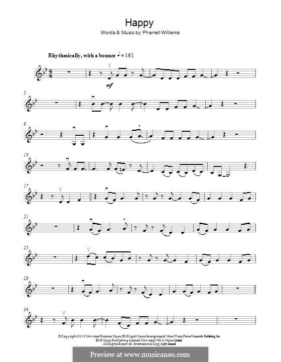 Happy: para violino by Pharrell Williams