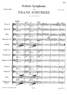 Symphony No.6 in C Major, D.589: movimento I by Franz Schubert