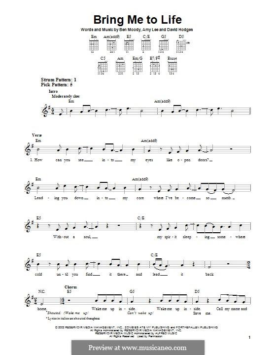 Bring Me to Life (Evanescence): Para guitarra com guia by Amy Lee, Ben Moody, David Hodges