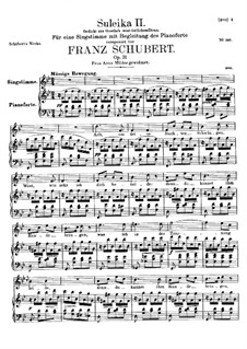 Suleika II, D.717 Op.31: para voz alta e piano by Franz Schubert