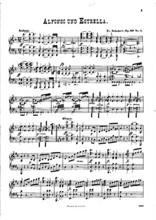 Alfonso and Estrella, D.732: Overture, para piano by Franz Schubert