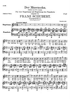 Der Musensohn (The Son of the Muses), D.764 Op.92 No.1: pimeira versão by Franz Schubert