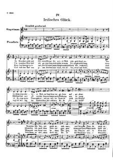 Vier Refrain-Lieder, D.866 Op.95: No.4 Irdisches Glück by Franz Schubert