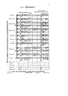 Preciosa, J.279 Op.78: abertura by Carl Maria von Weber