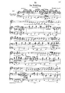 Im Frühling (In Spring), D.882 Op.101 No.1: para voz baixa e piano by Franz Schubert