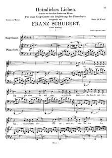 Heimliches Lieben (Secret Love), D.922 Op.106 No.1: pimeira versão by Franz Schubert