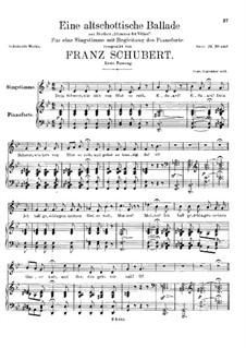 An Old Scottish Ballad, D.923 Op.165 No.5: Primeira Edição by Franz Schubert