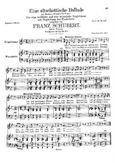 An Old Scottish Ballad, D.923 Op.165 No.5: Segunda edição by Franz Schubert