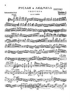 Overture: partes by Mikhail Glinka