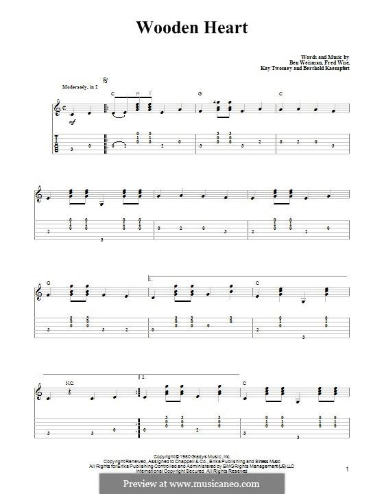 World We Knew (Over and Over): Para guitarra com guia by Ben Weisman, Bert Kaempfert, Fred Wise, Kay Twomey