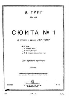 Suite No.1, Op.46: Partes by Edvard Grieg
