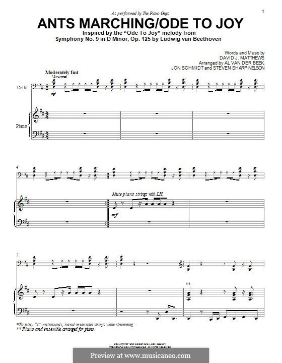 Ants Marching/Ode to Joy (The Piano Guys): Para Piano by David J. Matthews