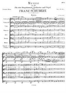 Mass No.2 in G Major, D.167: Kyrie by Franz Schubert