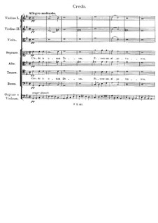 Mass No.2 in G Major, D.167: credo by Franz Schubert