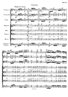 Mass No.2 in G Major, D.167: Sanctus by Franz Schubert