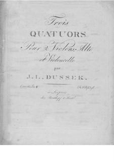 Three String Quartets, Op.60: No.2 in B Flat Major, Craw 209 by Jan Ladislav Dussek