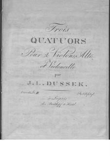 Three String Quartets, Op.60: No.3 in E Flat Major, Craw 210 by Jan Ladislav Dussek
