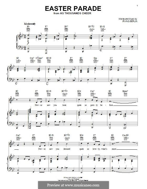 Easter Parade: Para vocais e piano (ou Guitarra) by Irving Berlin