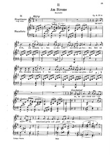 Am Strome (By the River), D.539 Op.8 No.4: para voz baixa e piano by Franz Schubert