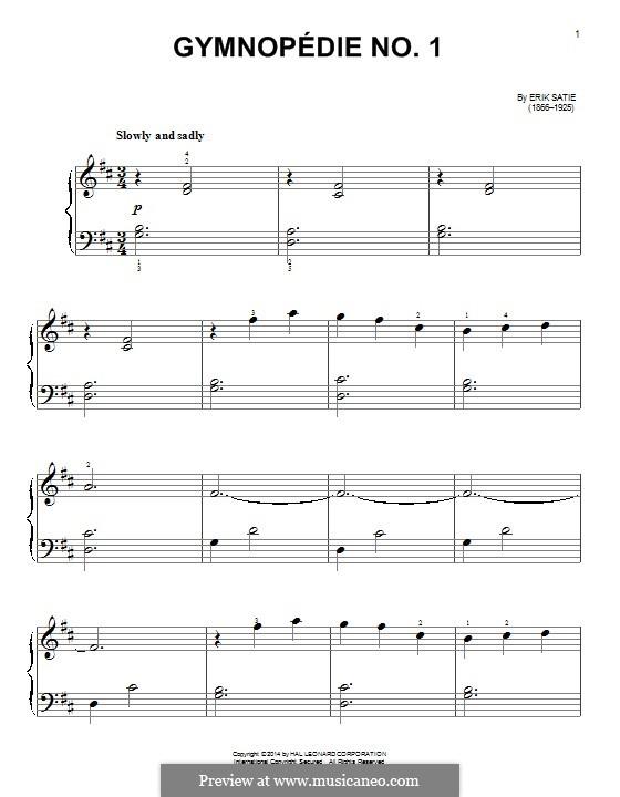 No.1: Para Piano by Erik Satie