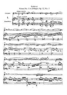 Three Sonatas for Violin and Piano, Op.12: Sonata No.1 by Ludwig van Beethoven