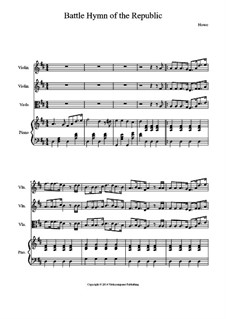 Battle Hymn of the Republic: For quartet by William Steffe
