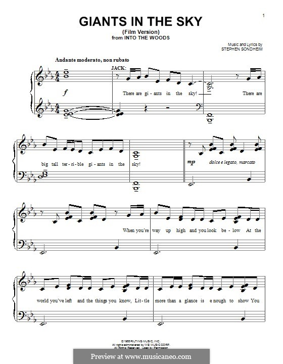 Giants in the Sky: Para Piano by Stephen Sondheim
