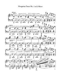 No.1-10: Para Piano by Johannes Brahms