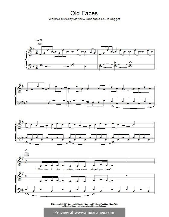 Old Faces: Para vocais e piano (ou Guitarra) by Matthew Johnson, Laura Doggett