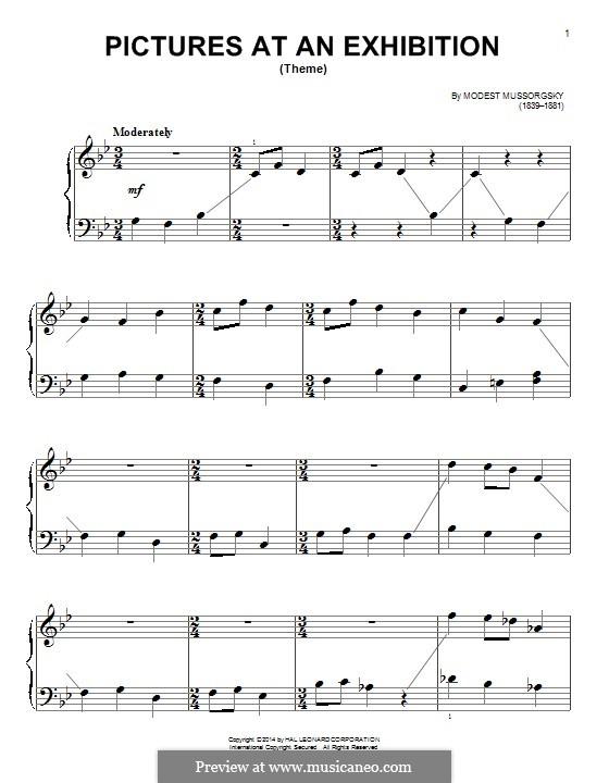 Promenade I: Para Piano by Modest Mussorgsky