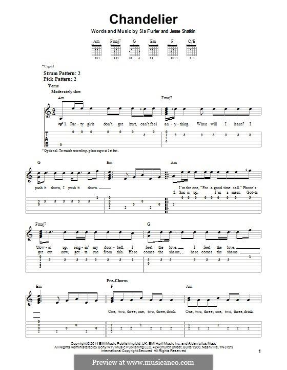 Chandelier (Sia): Para guitarra com guia by Sia Furler, Jesse Shatkin