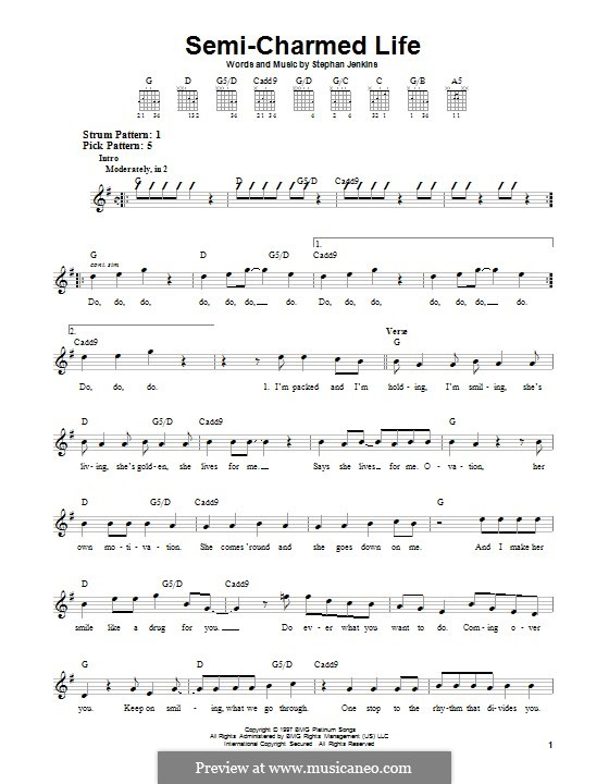 Semi-Charmed Life (Third Eye Blind): Para guitarra com guia by Stephan Jenkins
