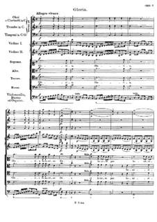 Mass No.4 in C Major, D.452: Gloria by Franz Schubert