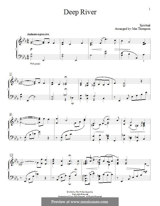 Deep River: Para Piano by folklore