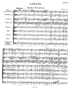 Mass No.4 in C Major, D.452: Benedictus II (Appendix) by Franz Schubert
